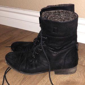 Black Madden Girl Combat Boots